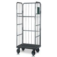 Best Mild Steel Roll Cage Trolley Warehouse Logistic Storage With Wheels wholesale