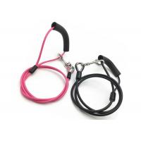 Best 1.8 - 2.0mm Spring Hook Pet Tie Out Cable , Stainless Steel Dog Training Leash wholesale