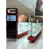 China Self service electronic shopping centre custom retail mall unit jewelry showcase kiosk stand design on sale