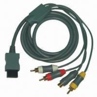 Best Wii Component Cable with 1.8m Cable Length, Plug of Cable is Nickel-filled wholesale