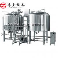 Best 500L 1000L 1500L Commercial Beer Brewing Equipment Stainless Steel In Silver wholesale