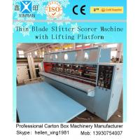 China High Speed Double Pre-Scoring Carton Box Cutting Machine / Carton Cutter Machine on sale
