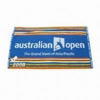 China Sports/Gym Towel with Double Jacquard Border on sale