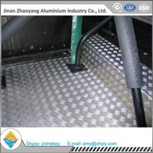 Cheap 2.5mm Aluminium Alloy Sheet Aluminum Stair Checker Plate 5 Bars 3003 H14 / H24 for sale