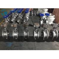 Best Metal Seated Butterfly Valve High Performance Double Flange End Triple Eccentric Worm Gear wholesale