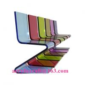 Best Hot sale elegant colored acrylic furniture Z Shape acrylic chair wholesale