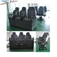 China Newest 3 DOF Pneumatic / Hydraulic Black Motion Theater Chair With Dustproof Plastic Cover on sale
