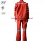 Best Red Cotton Fire Retardant Suit / Flame Resistant Rain Suit wholesale