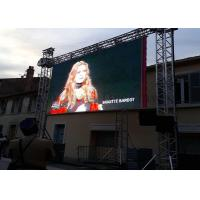 China Large Viewing Angle Outdoor Led Screen Rental Hanging Display 2 Years Warranty on sale
