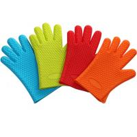 Best Non-stick Silicone BBQ Baking Glove Cooking Mitts With Heart-shaped Point wholesale