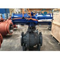 China High Pressure DBB DIB Structure 3PC Body Trunnion Ball Valve Flanged End With Gear Operation on sale