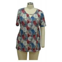 Cheap Comfortable Ladies Casual T Shirts Ladies Casual Blouses With Deko Bar Decoration for sale