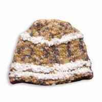 China Knitted Women's Hat, Made of 30% Wool and 70% Acrylic on sale