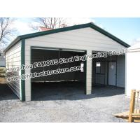 China Metal Garage Pre-engineered Building Steel Structure , Fabrication on sale
