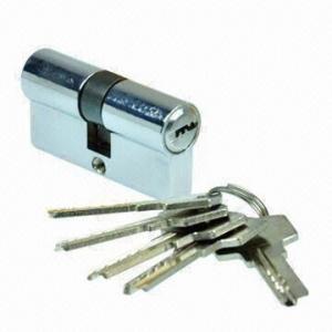 Best Tubular EU Standard Key Lock Cylinder, Made of Zinc-alloy wholesale