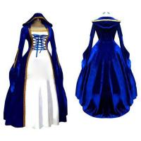 Best Medieval Dress Wholesale XXS to XXXL Cosplaydiy Blue&White Victorian Medieval Renaissance Dress Cosplay Costume wholesale