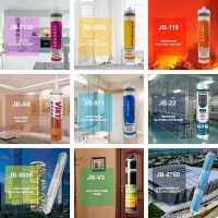 Best Building Material 300ml Clear GP Glass Adhesive Sealant JB7132 Uv Resistant Caulk Acetic Silicone Sealant wholesale