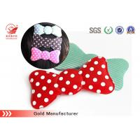 China Customised Red  Fancy Velcro Hair Clips With Foam , Durable / Recycle wholesale