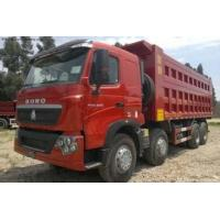 Best CNHTChowo DUMP TRUCK Manual Transmission Type and Diesel Fuel Type 8X4 red color wholesale