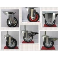 China 150kg Roller Bearing Fixed Light Small Rubber Castor Wheel on sale