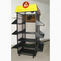 China Floor Standing 4 Sides Gridwall Branded Display Stands on sale