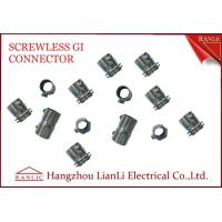 China 20mm 25mm Steel GI Conduit Screwless Connector Electro Galvanized BS4568 on sale