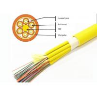 China Breakout Tight Buffered Fiber Optic Cable 2 - 24 Fiber Count PVC / LSZH Jacket GJPFJV on sale