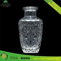Best Tapered with  Edge Embossed Glass Bottle for Whisky wholesale