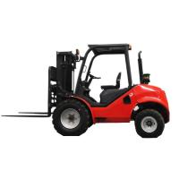 Best 2.5 - 3 Ton Red Small Rough Terrain Forklift , Steel 4 Wheel Drive Forklift wholesale