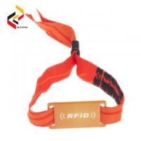 Best Adjustable Fabric Woven MIFARE S50 NFC Wristband wholesale