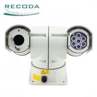 China Outdoor Security Car PTZ Camera IP / AHD Analog Infrared 180 ° Vertical Rotating on sale