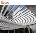 Best Sunproof Modern Aluminum Pergola Blade Size 150mm , 200mm , 265mm wholesale
