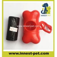 China pet products dog waste poop bags with bone dispenser on sale