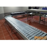 China Boxes Pallets Transport 150kg/M 100mm Low Floor Chain Roller Conveyor on sale
