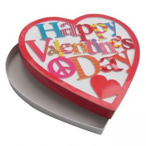 Best Glossy Lamination Custom Packing Boxes , Heart Shaped Chocolate Box wholesale