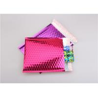 Best Pink Metallic Bubble Mailers / Bubble Wrap Envelopes For Electronic Products wholesale