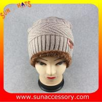 Best AK17018 Sun Accessory advertising  winter knitted beanie hats for mens,Logo can be added wholesale