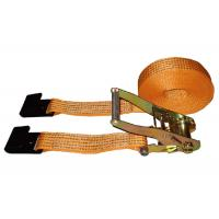 China 5000kg Polyester Webbing Slings With Flat Hook / Cargo Lashing Strap on sale
