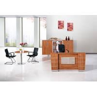 Buy cheap Fashion Simple Office Reception Counter Desk Golden Teak Color from wholesalers