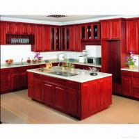 Buy cheap cherry solid wood kitchen cabinet from wholesalers