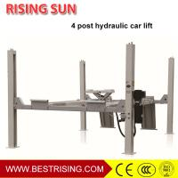 Best Runway type 4 post 220V pneumatic car lift for wheel alignment wholesale