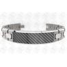 China Matte / Brush Ti2 Titanium Magnetic Bracelet with Black Carbon Fibre wholesale