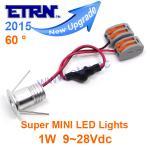 Best Starry DC12/24V 1W 60 ° Super MINI LED Downlight Cabinet ceiling Light Spotlight wholesale