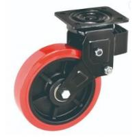 China 6 Inch 150mm Spring Loaded Locking Casters Position Type Shock Absorbing on sale