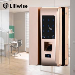 Best Smart Apartment Glass Door Lock Support Password Fingerprint 188mm * 111mm wholesale