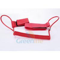 Best 1.5M Long Quality Red Plastic Spring Coil Fishing Lanyard With  Strap 2pcs wholesale