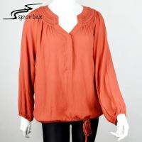 Best Custom Color Ladies Shirts And Blouses Polyester Material Skin Friendly wholesale