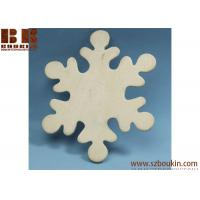 Best Unfinished Wood Snowflake Cutout Christmas tree ornaments Holidays Gift Ornament wholesale