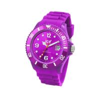 Best Stylish Fashion Silicone Quartz ice Watch neon with Pink for girls wholesale