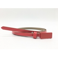 China Plate Buckle Skinny Narrow 1.0CM Ladies Fashion Leather Belts on sale